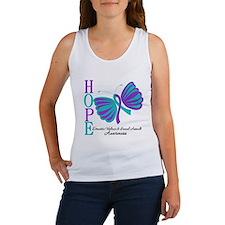 Hope Butterfly Teal&Purple Women's Tank Top