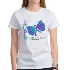 Hope Butterfly Teal&Purple Tee