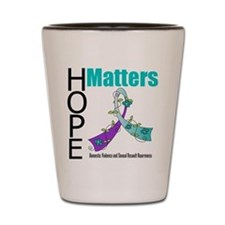 Hope Matters Purple&Teal Shot Glass