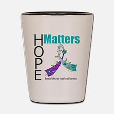 Hope Matters Purple&Teal Shot Glass