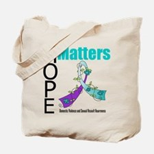 Hope Matters Purple&Teal Tote Bag