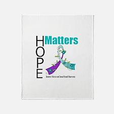 Hope Matters Purple&Teal Throw Blanket