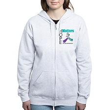 Hope Matters Purple&Teal Zip Hoodie