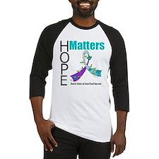 Hope Matters Purple&Teal Baseball Jersey