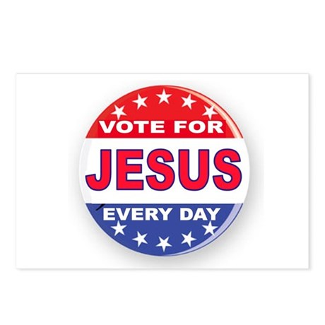 VOTE FOR JESUS Postcards (Package of 8)