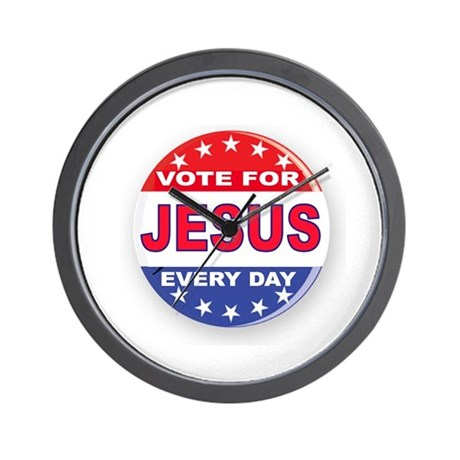 VOTE FOR JESUS Wall Clock