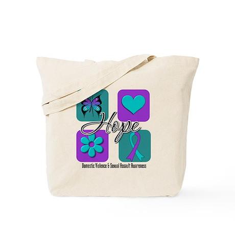 Hope Inspire Tiles Tote Bag