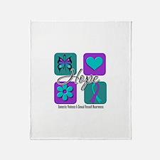 Hope Inspire Tiles Throw Blanket