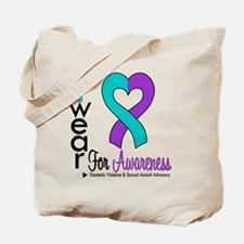 I Wear Purple & Teal Tote Bag