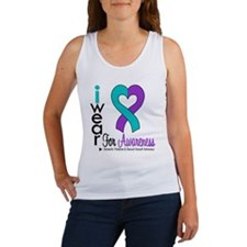 I Wear Purple & Teal Women's Tank Top