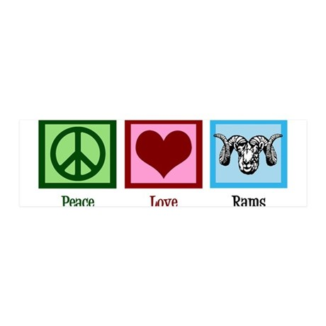 Peace Love Rams 36x11 Wall Decal