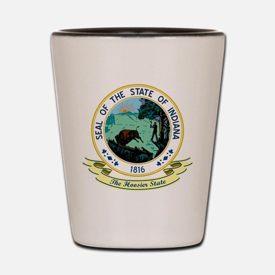 Indiana Seal Shot Glass