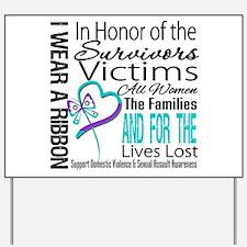 In Honor Ribbon Yard Sign
