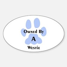 Unique Westie Sticker (Oval)
