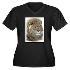 Cool Animals and wildlife Women's Plus Size V-Neck Dark T-Shirt