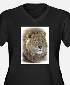 Unique Animals and wildlife Women's Plus Size V-Neck Dark T-Shirt
