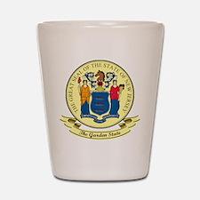 New Jersey Seal Shot Glass