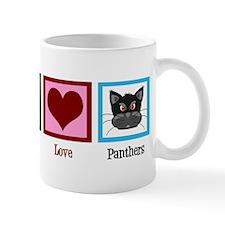 Peace Love Panthers Mug