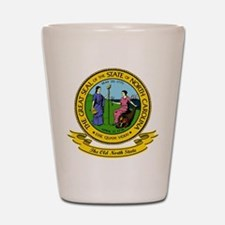North Carolina Seal Shot Glass