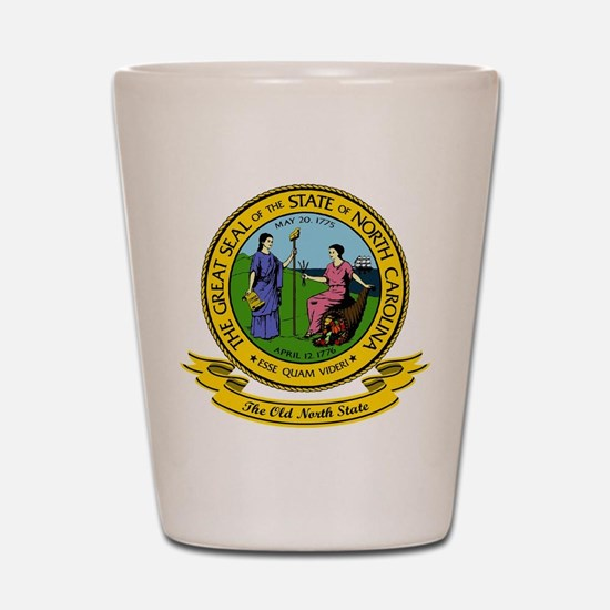 North Carolina Seal Shot Glass