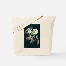 Cute Wolf moon Tote Bag