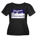 White Lake ON Women's Plus Size Scoop Neck Dark T-