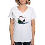 White Lake ON Women's V-Neck T-Shirt