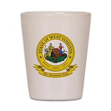 West Virginia Seal Shot Glass