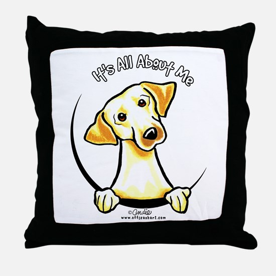 Yellow Lab IAAM Throw Pillow