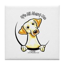 Yellow Lab IAAM Tile Coaster