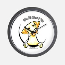 Yellow Lab IAAM Wall Clock