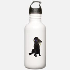 lab with duck Water Bottle