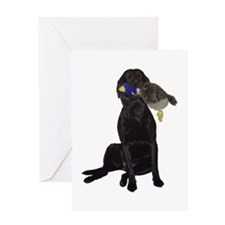 lab with duck Greeting Card