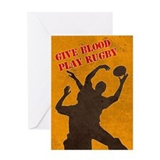 rugby lineout catch Greeting Card