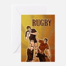 rugby player line out Greeting Card