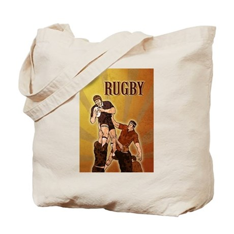 rugby player line out Tote Bag