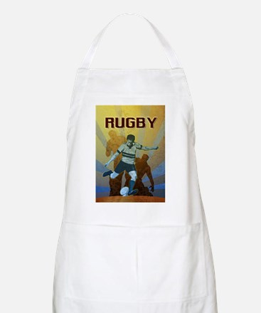 rugby player kicking Apron