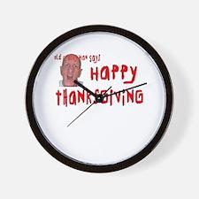 Crabby Thanksgiving Wall Clock