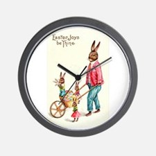 Vintage Easter Card Wall Clock