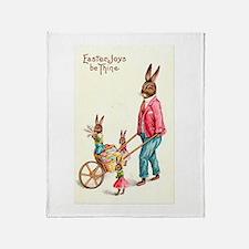 Vintage Easter Card Throw Blanket