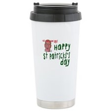 Crabby St. Patrick Travel Mug