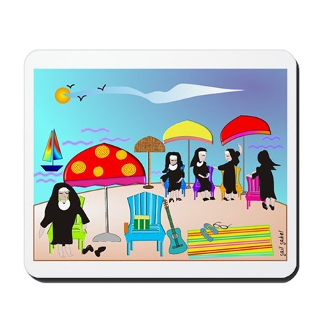 Catholic Nuns Christmas Mousepad
