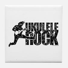 Ukulele Rock Tile Coaster