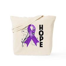 Lupus Hope Floral Ribbon Tote Bag