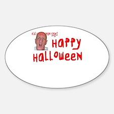 Crabby Halloween Sticker (Oval)
