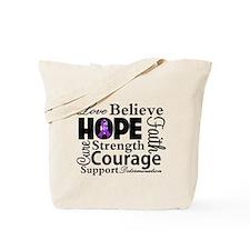 Love Hope Believe Lupus Tote Bag