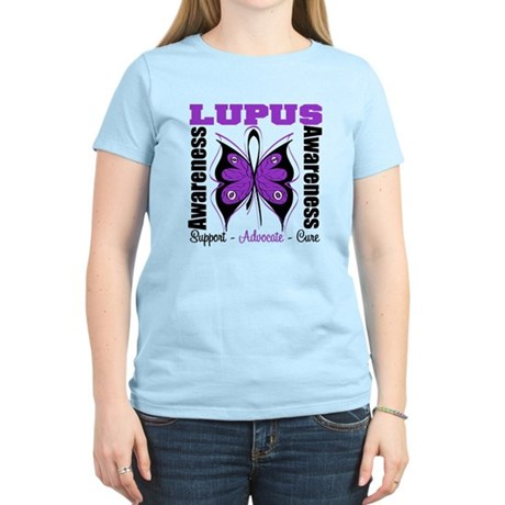 Lupus Awareness Butterfly Women's Light T-Shirt