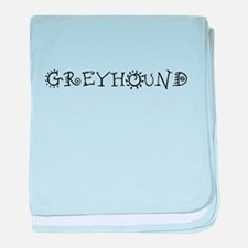 Greyhound baby blanket