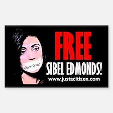 Free Sibel Edmonds Rectangle Decal
