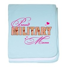 Navy fiancee baby blanket